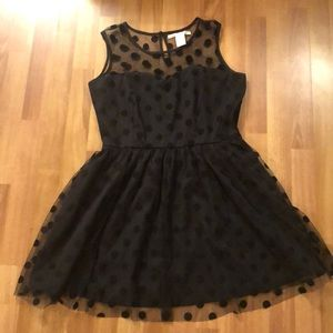 American Rag Black Polk a Dot Dress
